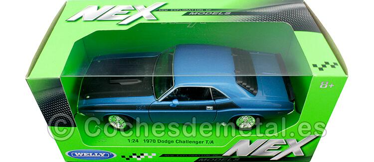 1970 Dodge Challenger T/A Azul Metalizado 1:24 Welly 24029