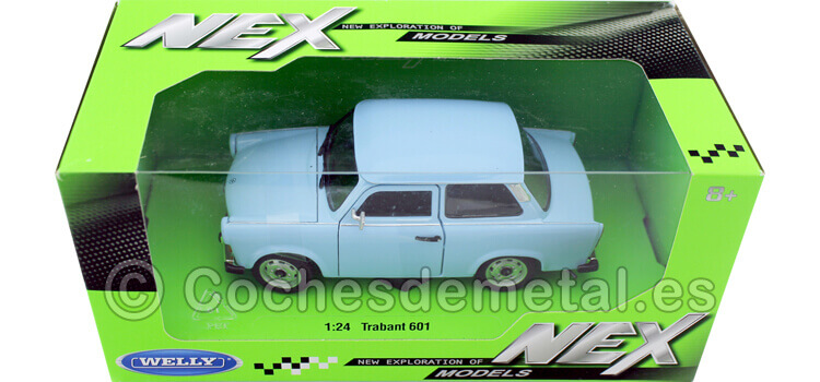 1963 Trabant 601 Azul Claro 1:24 Welly 24037