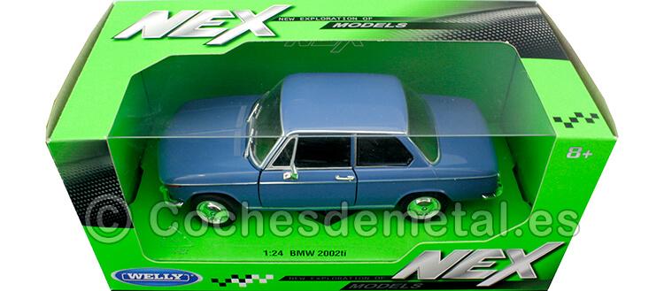 1973 BMW 2002 Ti Azul 1:24 Welly 24053