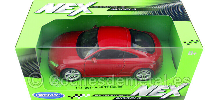 2014 Audi TT (8S) Rojo Cereza 1:24 Welly 24057
