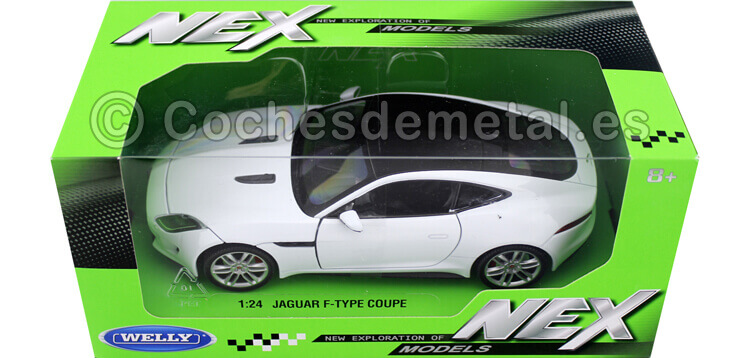 2015 Jaguar F-Type Coupe Blanco 1:24 Welly 24060
