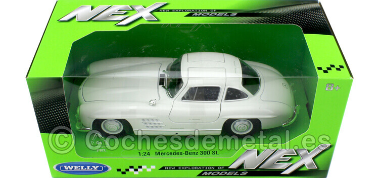 1954 Mercedes-Benz 300 SL W198 Blanco 1:24 Welly 24064