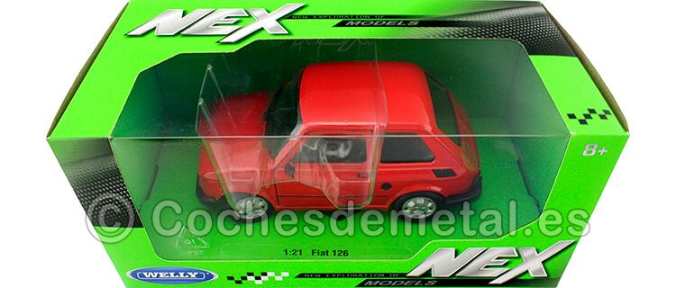 1972 Fiat 126 (Seat 126) Rojo 1:21 Welly 24066