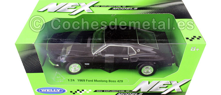 1969 Ford Mustang Boss 429 Negro Cuervo 1:24 Welly 24067
