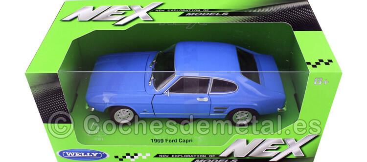 1969 Ford Capri Azul Claro 1:24 Welly 24069