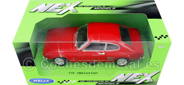 1969 Ford Capri Rojo 1:24 Welly 24069