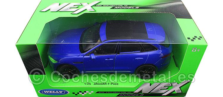 2016 Jaguar F-Pace Azul Metalizado 1:24 Welly 24070