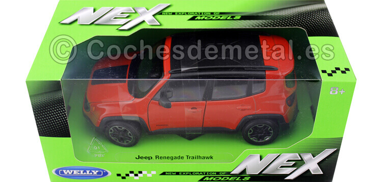 2016 Jeep Renegade Trailhawk Naranja 1:24 Welly 24071