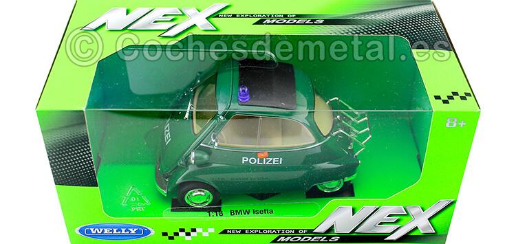 1954 BMW Isetta 250 Policia Alemana Verde 1:18 Welly 24096