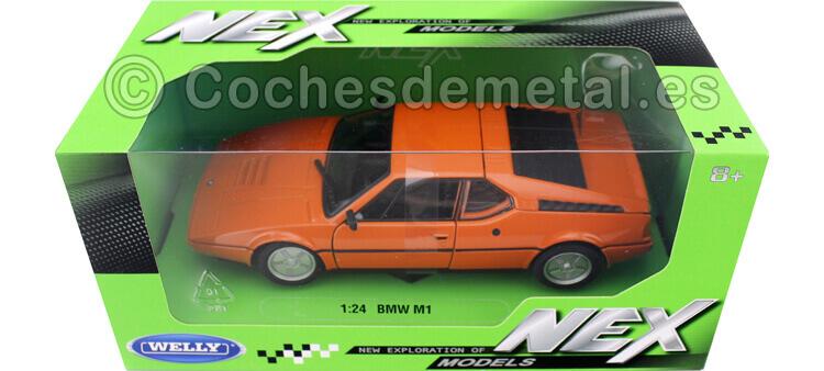 1987 BMW M1 Naranja 1:24 Welly 24098