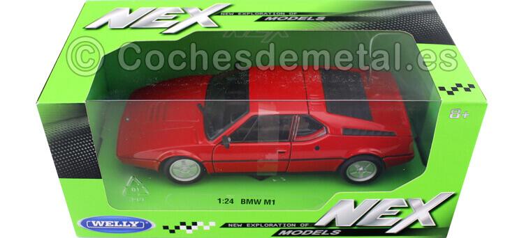 1987 BMW M1 Rojo 1:24 Welly 24098