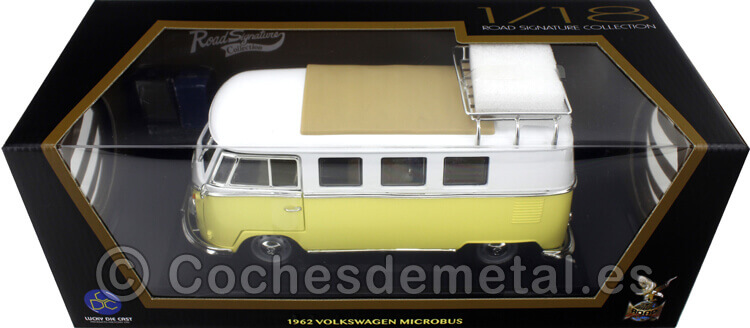 1962 Volkswagen Microbus Combi Type 2 T1 Camping Version 1:18 Lucky Diecast 92328